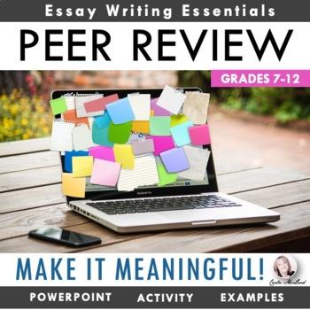 "Peer Review ""Make It Meaningful"" Bundle: Help Writers Lear"
