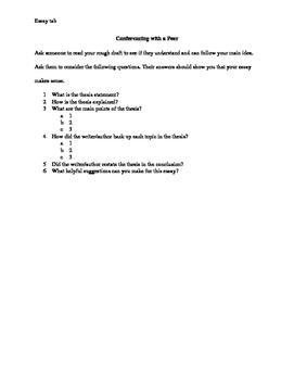 Peer Revision of Narrative Essay