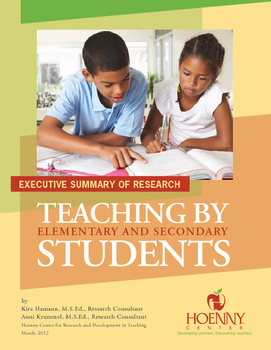 Peer Teaching: A research-based practice