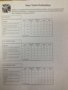 Peer Team Evaluation Rubric