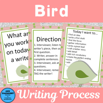 Peer Writing Conference Interactive Bulletin Board Bird Theme