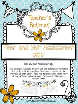 Peer & self assessment template