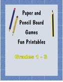 Pen and Pencil Board Games Fun Printables