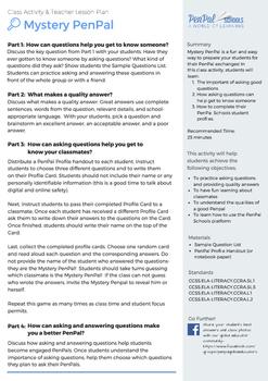 PenPal Schools: Mystery PenPal Activity