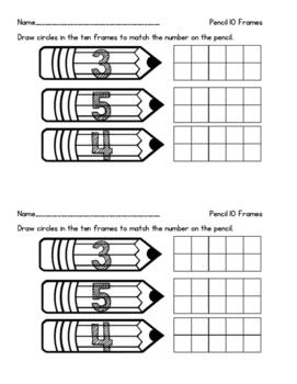 Pencil 10 frames