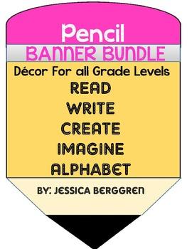 Pencil Banners Bundle