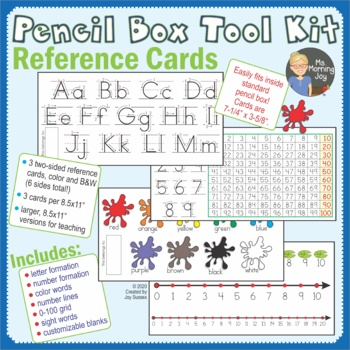 Pencil Box Tool Kit Letter Formation, Number Line Referenc