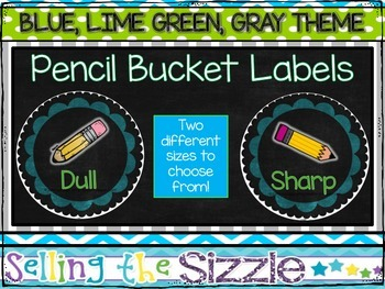 Pencil Bucket Labels