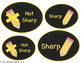 Pencil Container Chalkboard Labels {SIX Color Options}