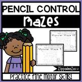 Pencil Control Monster Mazes - NO PREP - Print and Go - 20