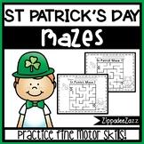 Pencil Control St Patrick Mazes NO PREP Print and Go 10 Ma