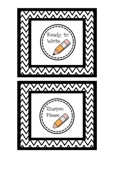 Pencil Cup Tags