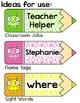 Alien Theme Labels - Polka Dot Pencils