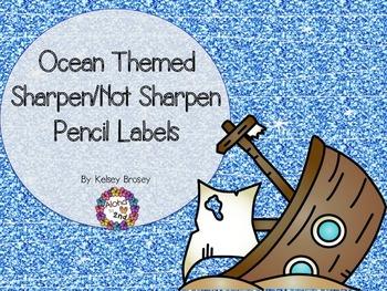 Pencil Labels Ocean Theme
