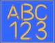 Pencil Letters and Numbers Clip Art