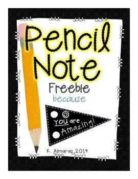 Pencil Note Freebie [because you're amazing]!