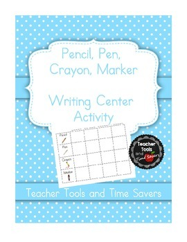 """Writing Center Activity for sight or spelling words """"Penci"""