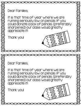 Pencil Refill Letter