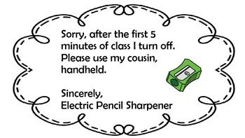 Pencil Sharpener Sign