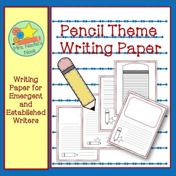 Pencil Writing Paper for Emergent and Established Writers