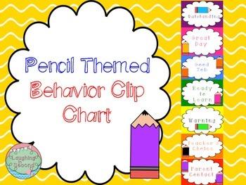 Pencil Themed Behavior Clip Chart