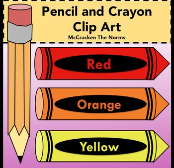 Pencil and Crayon Clip Art