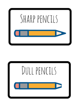 Pencil sharp/dull