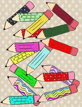 Pencils Galore Clip Art
