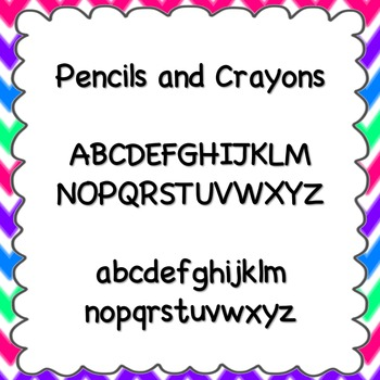 Pencils and Crayons Font {personal and commercial use; no