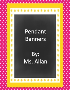 Colorful Pendant Banner with Chalk Circles