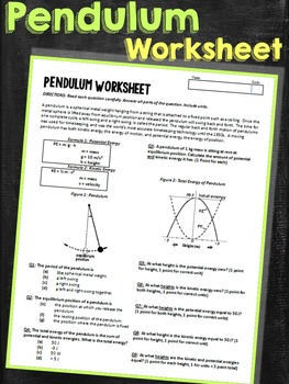 Pendulum Energy Worksheet