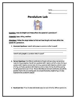Pendulum Lab Activity