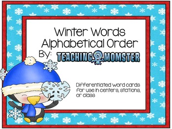 Penguin ABC Order Word Cards--Differentiated