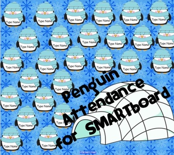 Penguin Attendance for SMARTboard