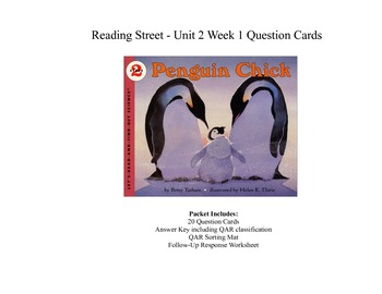 Penguin Chick Question Cards - Third Grade Reading Street: