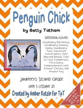 Penguin Chick Supplemental Activities 2nd Grade Journeys U