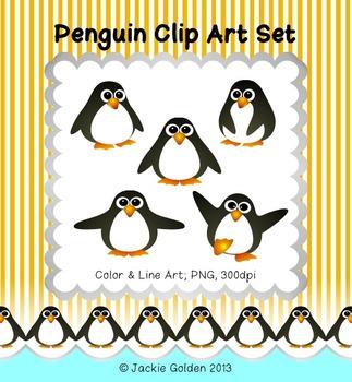 Penguin Clip Art Set
