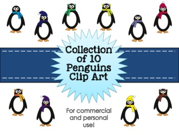 Penguin Clipart Collection for Commercial and Personal Use