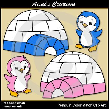 Penguin Color Match Clip Art