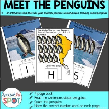 Penguin Counting Interactive Books WINTER EDITION 1