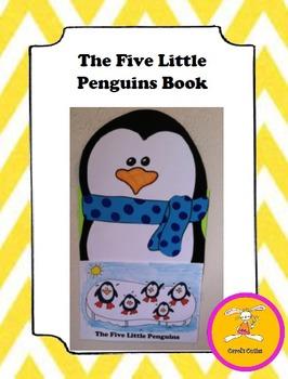 Christmas Craft -Penguin -Five Little Penguins Book/Craft