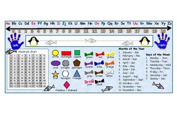 Penguin Desk Name Plate