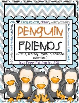 Penguin Friends (Crafts, literacy, math, & Science activities!)