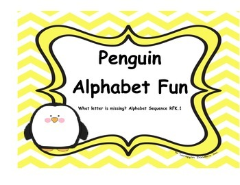 Penguin Fun - What letter is missing? Alphabetical Sequence