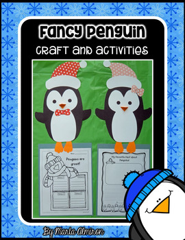 Fancy Penguin - Craft and Writing Activities