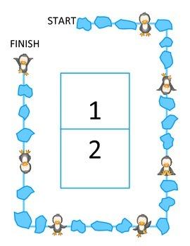 Penguin Game Board: Place Value Hundred Thousands