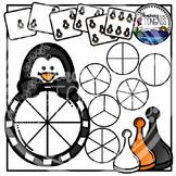 Penguin Spinner Games Clipart Bundle