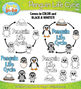 Penguin Life Cycle Clip Art Set — Comes In Color and Black