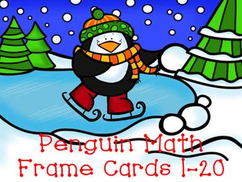 Penguin Math Frame Cards