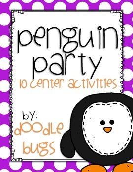 Penguin Math & Literacy Centers {10 Center Activities}